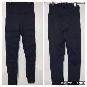 Lululemon Wunder Under pants high tech mesh size 2